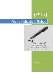 Poetry – Elizabeth Bishop - Aoife's Notes