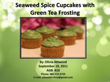 Seaweed Spice Cupcakes with Green Tea Frosting - International ...