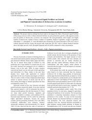 Effect of Seaweed Liquid Fertilizer on Growth and Pigment ...