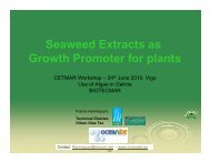 Seaweed Extracts as Growth Promoter for plants - Biotecmar