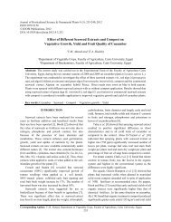 Effect of Different Seaweed Extracts and Compost on Vegetative ...
