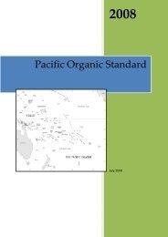 1 Pacific Organic Standards - SPREP