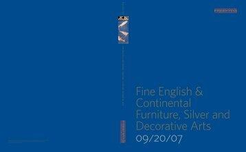 Fine English & Continental Furniture, Silver and Decorative Arts 09 ...