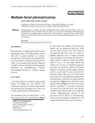 Multiple facial pilomatricomas - JPAD