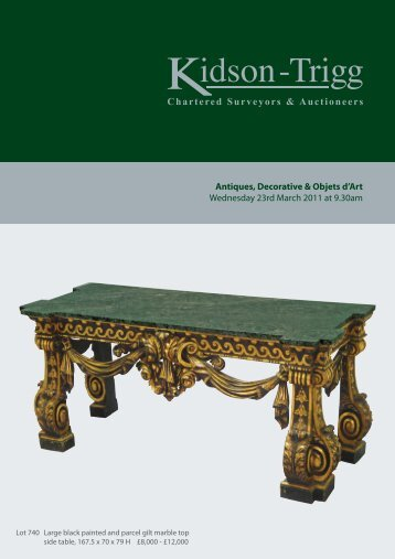 Antiques, Decorative & Objets d'Art Wednesday 23rd ... - Kidson-Trigg