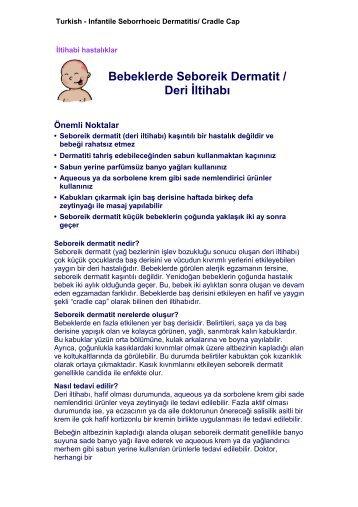 Bebeklerde Seboreik Dermatit / Deri İltihabı - Department of ...