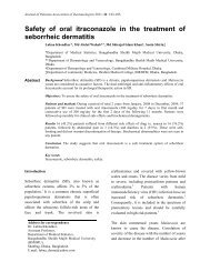 Safety of oral itraconazole in the treatment of seborrheic dermatitis