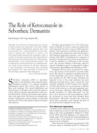 The Role of Ketoconazole in Seborrheic Dermatitis