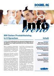 Inhalt 800 Seiten Produktkatalog in 8 Sprachen