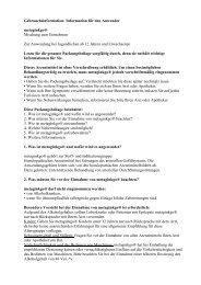 Gebrauchsinformation: Information für den Anwender metaginkgo ...