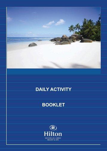 DAILY ACTIVITY BOOKLET - Hilton Seychelles Labriz Resort & Spa