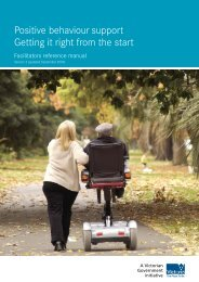 Positive Behaviour Support - Department of Human Services - Vic ...