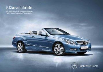 Download E-Klasse Cabriolet Preisliste (PDF)