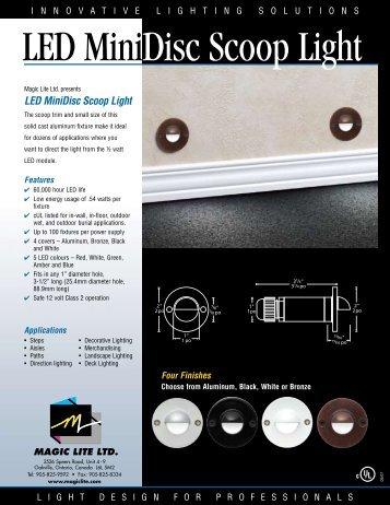 LED MiniDisc Scoop Light - Magic Lite
