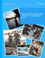 Fisheries Management in Ontario - Ministry of Natural Resources