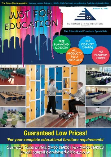 combined office interiors.  Combined COI Just 4 Education 2012  Combined Office Interiors Ltd To U