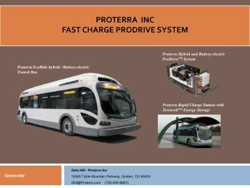 PROTERRA INC FAST CHARGE PRODRIVE SYSTEM