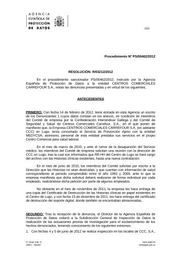 PS-00462-2012_Resolucion-de-fecha-01-03-2013_Art-ii-culo-4.5-LOPD