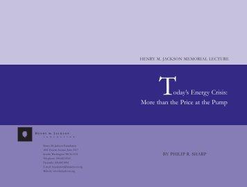 Philip R. Sharp [PDF] - Henry M. Jackson Foundation