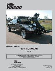 owner's manual 806 modular parts - Miller Industries