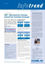 WBT - Web basiertes Training, Zukunft der Technikerschulung?