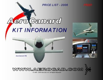 KIT INFORMATION - AeroCanard
