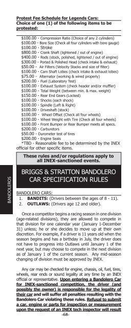 briggs & stratton bandolero car specification rules - US Legend Cars on airplane wiring diagram, motorcycle wiring diagram, fuse box wiring diagram, loader wiring diagram, chevy distributor wiring diagram, dump truck wiring diagram, fire truck wiring diagram,