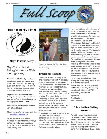 Full Scoop Newsletter - Marina Del Rey Anglers