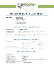 MATERIAL SAFETY DATA SHEET - Hopunion