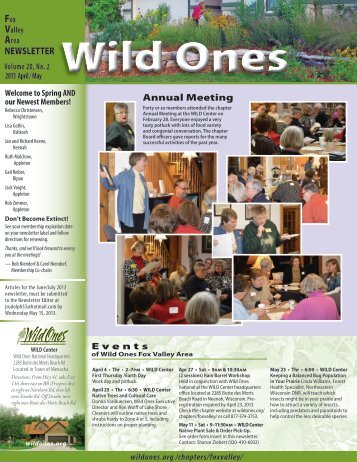 Chapter Newsletter - Wild Ones