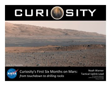 Curiosity's First Six Months on Mars: