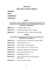 Code of Judicial Conduct. - Iowa Judicial Branch