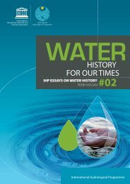 Water history for our times; IHP essays on water ... - unesdoc - Unesco