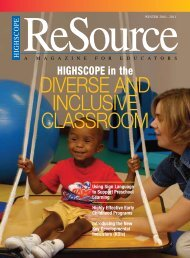 DIVERSE AND INCLUSIVE CLASSROOM - High/Scope Educational ...