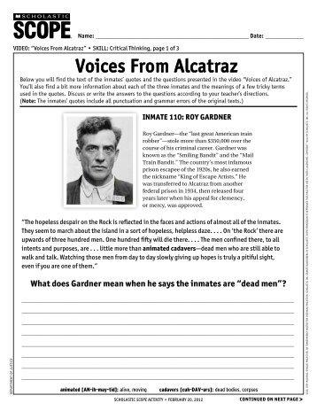 voices from alcatraz - Scholastic