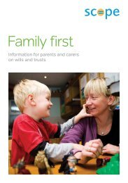 Download Scope's legacy parent and carer pack (PDF