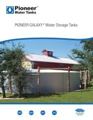 PIONEER GALAXY ® Water Storage Tanks - BlueScope Water