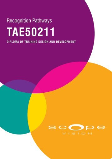 Diploma of Training Design and Development - Scope Vision