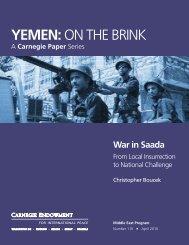 War in Saada - Carnegie Endowment for International Peace