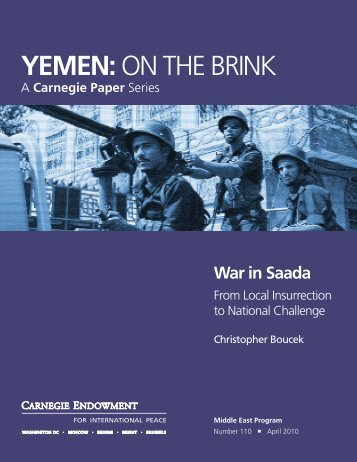 War in Saada - Carnegie Endowment for International Peace