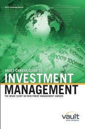 Vault Career Guide to Investment Management - M&G Investments