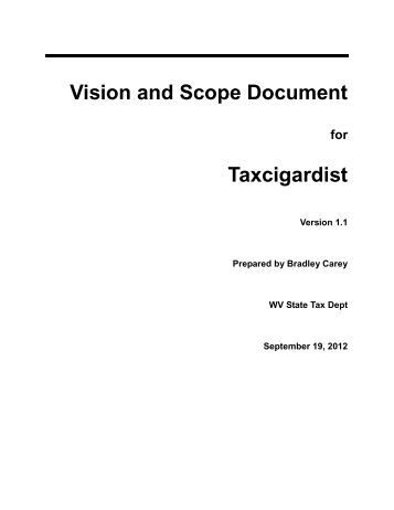 Template for Scope Document
