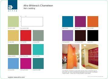 Altro Whiterock Chameleon Brochure - Commercial Coverings Ltd