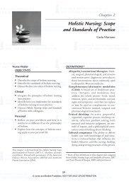 Holistic Nursing: Scope and Standards of Practice - Jones & Bartlett ...