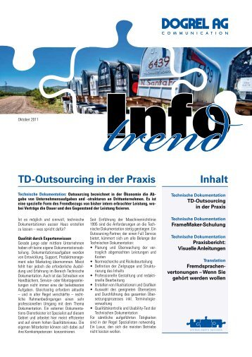 Inhalt Td-Outsourcing in der Praxis