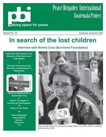 Bulletin 19 - December 2009 (pdf 3.6 MB) - PBI