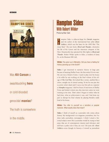 Interview with Hampton Sides - El Palacio Magazine