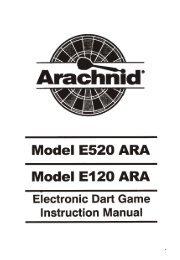 Model E520 ARA Model E120 ARA - DMI Sports