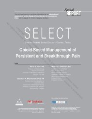 Opioid-Based Management of Persistent and Breakthrough Pain