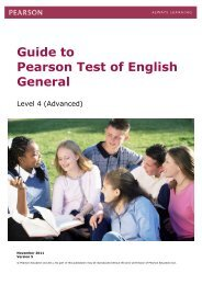 Guide - Pearson Test of English